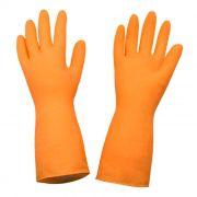Luva de Látex Laranja Reforçada - Super Orange