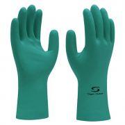 Luva de Látex Nitrílico com Forro Super Nitro Green - Super Safety