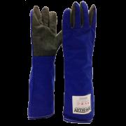 Luva Térmica forrada c/ palma em Aramida Carbono 45 cm para Alta Temperatura (até 800º)