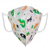 Máscara Semi Facial Infantil Kn95 Com Estampas Pacote com 2 Unidades