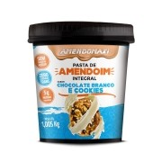 Pasta Integral de Amendoim Chocolate Branco e COOKIES 1kg – AmendoMaxi