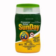 Protetor Solar FPS 60 com Repelente Sunday 120ml