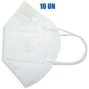 Respirador Pff2 Mascara N95 Branco Inmetro e Ca 10 Unidades