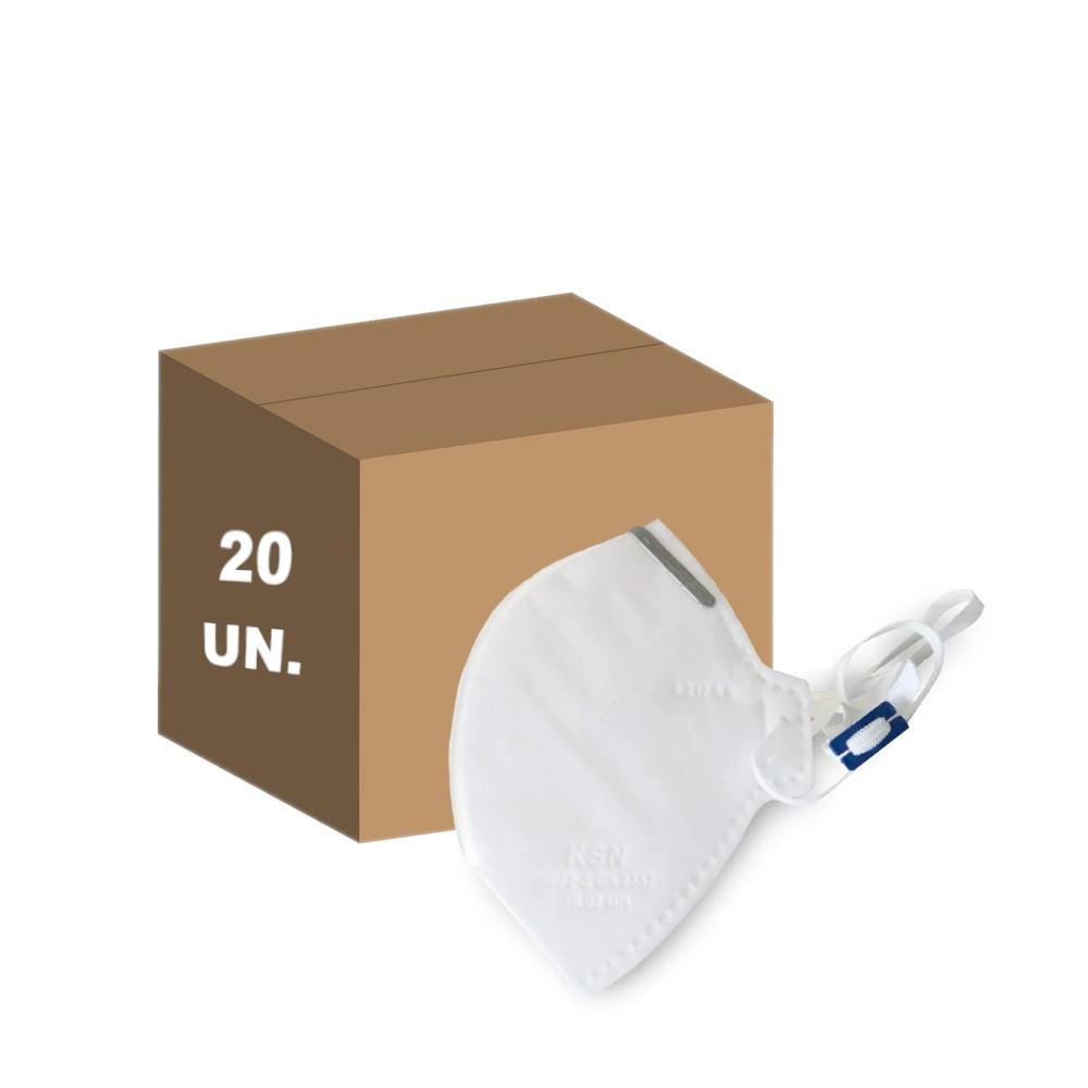 20 Máscaras Proteção Hospitalar PFF2 N95 Descartavel Branca