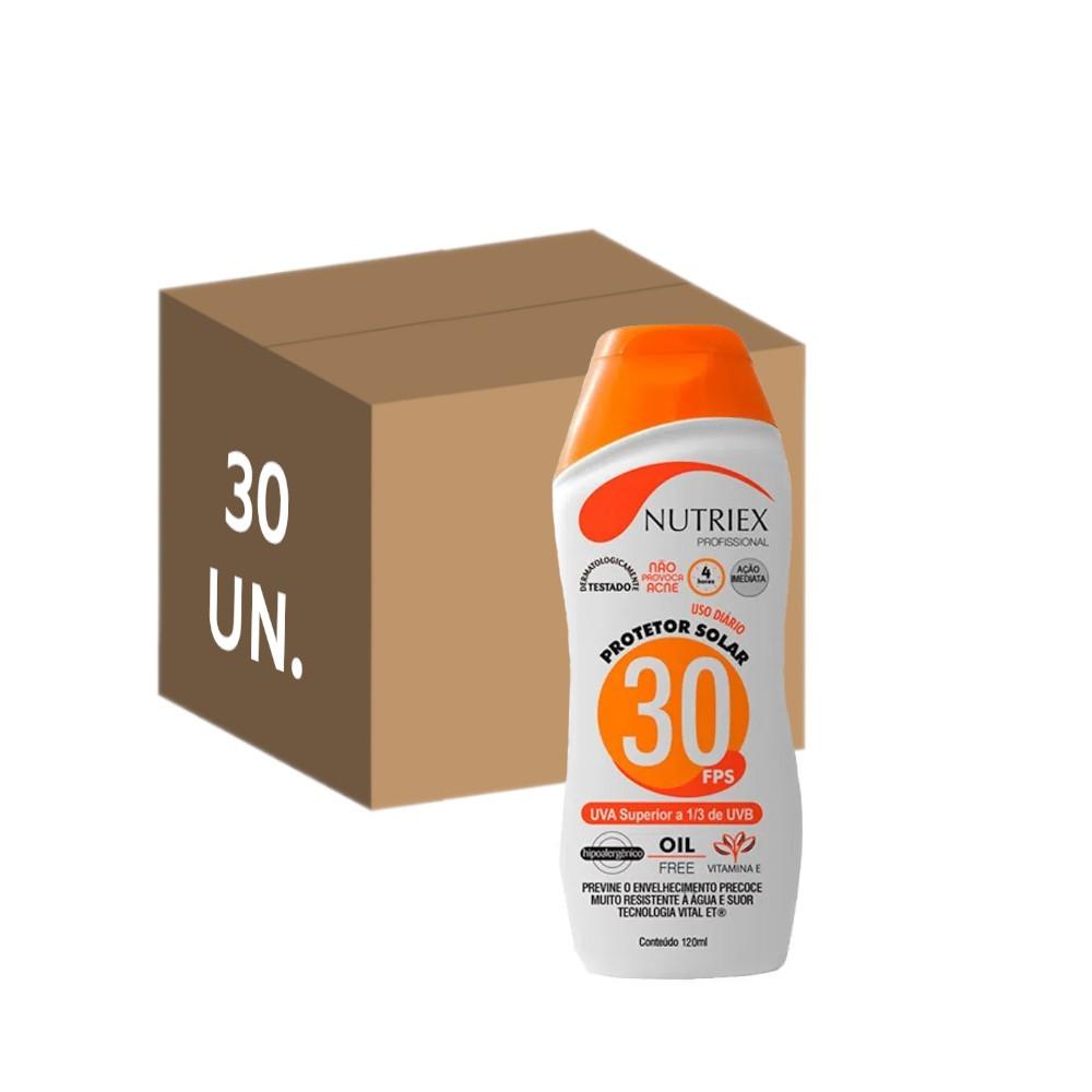 30 un. protetor solar fps 30 nutriex 120 ml sem oleo atacado