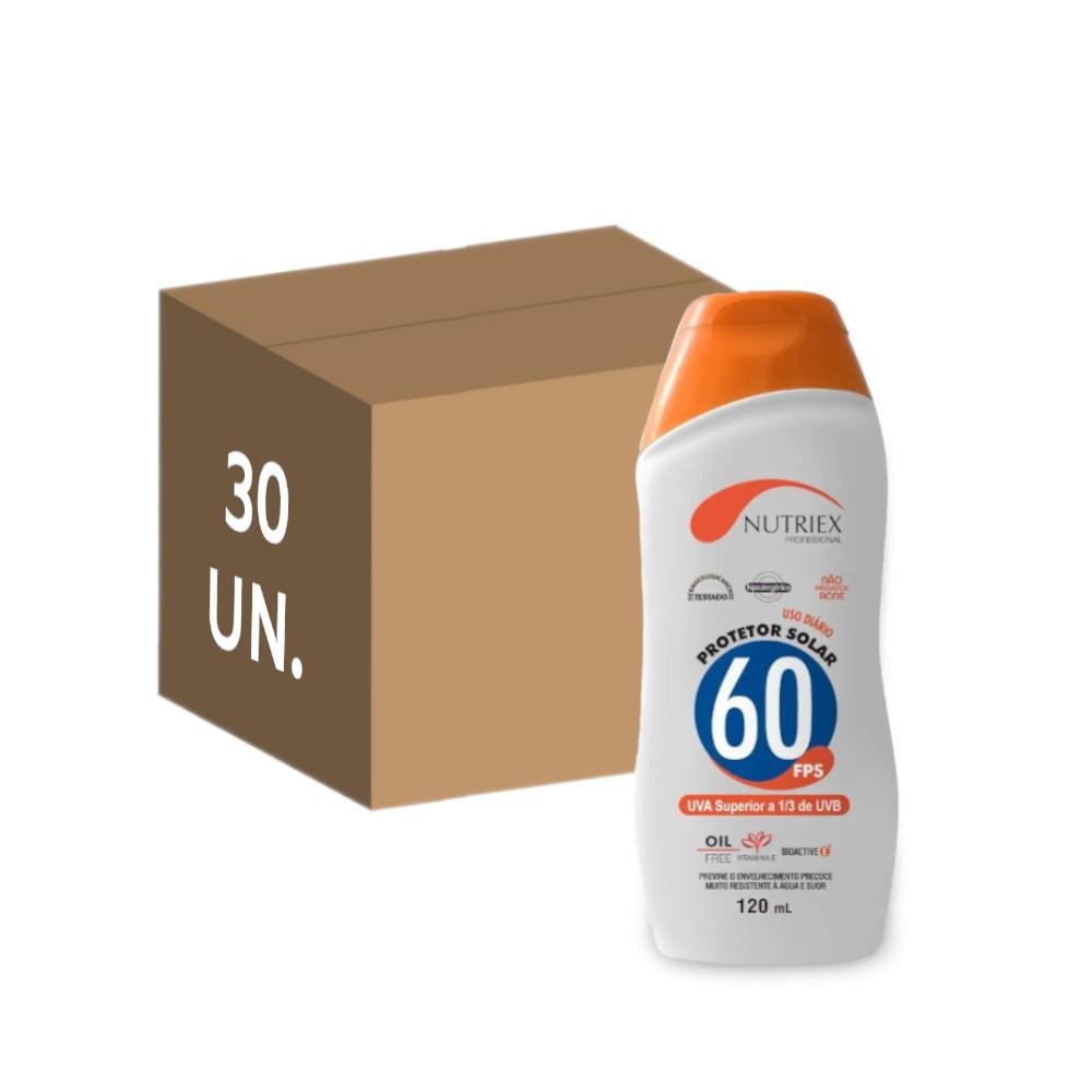 30 un. protetor solar fps 60 nutriex 120 ml sem oleo atacado