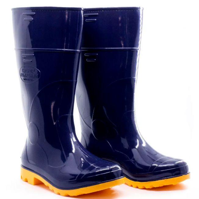 Bota de PVC Azul e Amarela Cano Longo Forrada - Italbotas