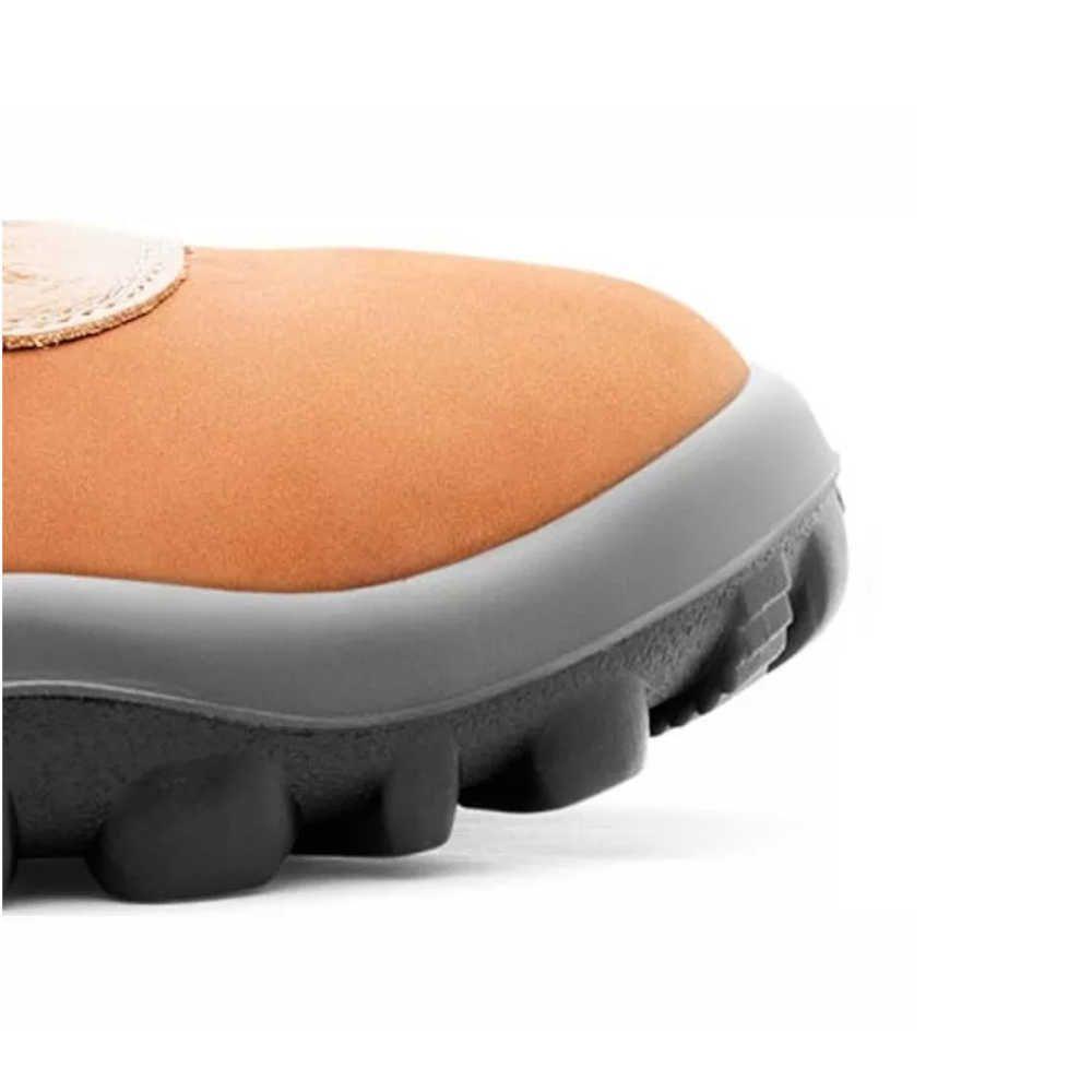Botina de Segurança Coturno Nobuck Miura Caramelo - Safetline