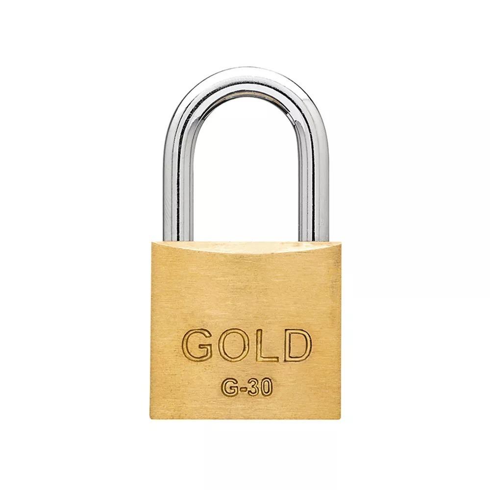 Cadeado Latão Maciço 30 mm - Gold