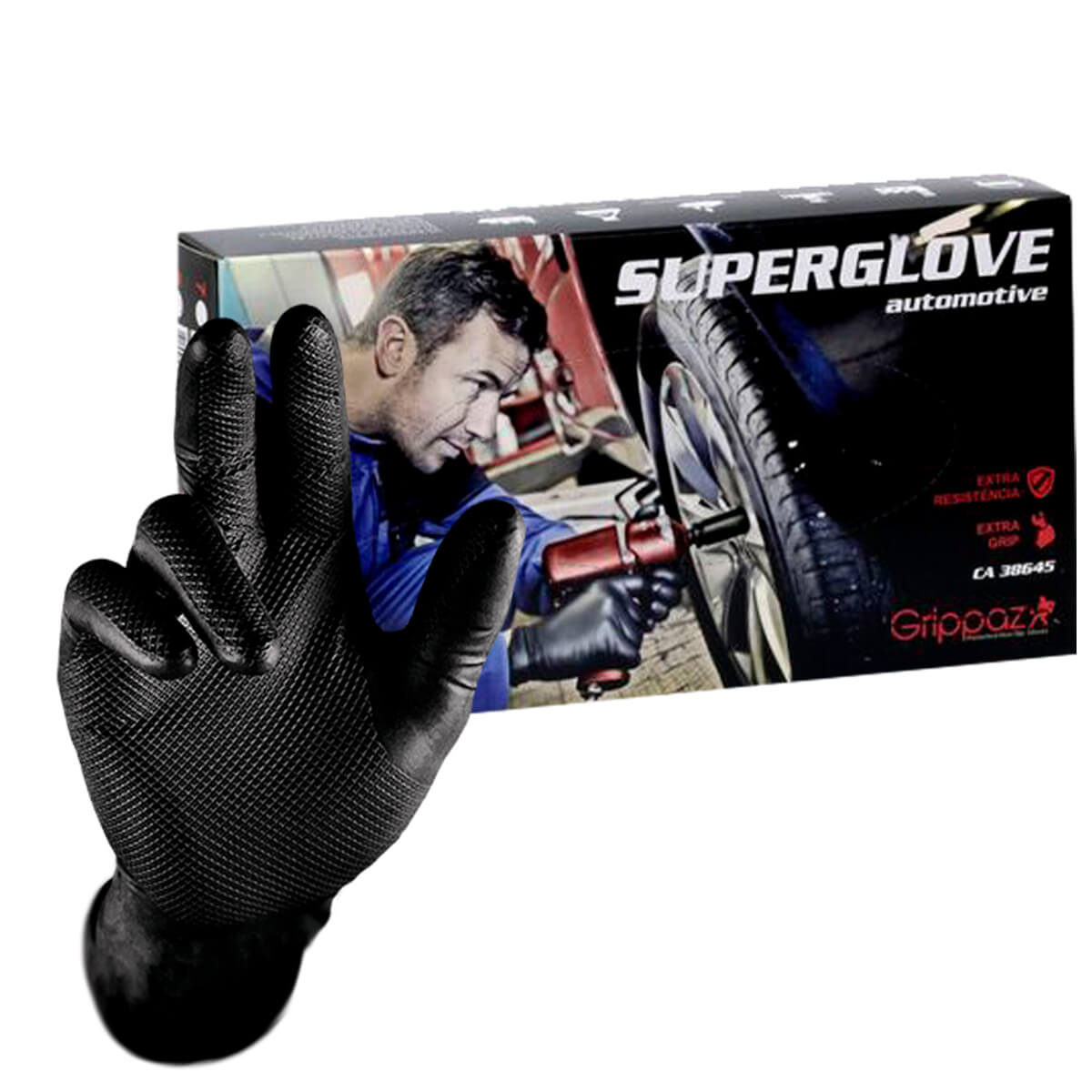 Caixa 50 Unidades Luva De Segurança Nitrilica Sem Pó Super Glove