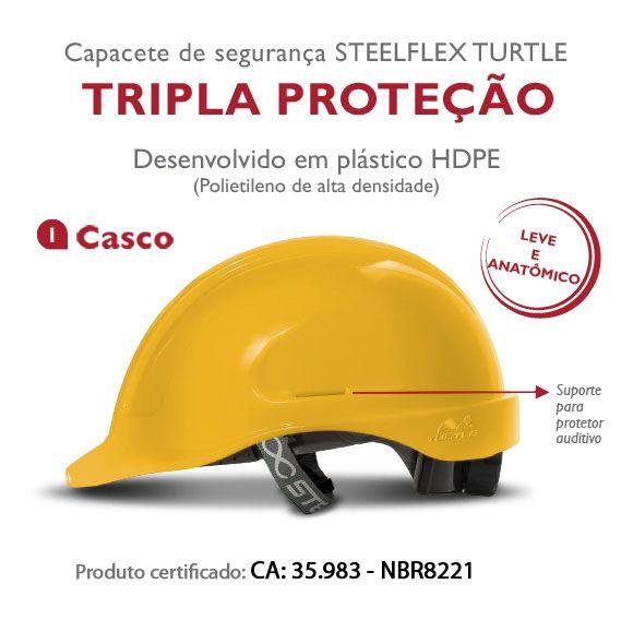 Capacete Aba Frontal Turtle - Steelflex