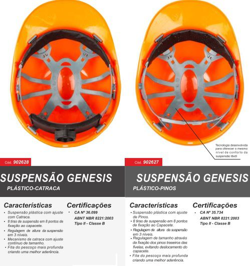 Capacete Aba Frontal com Catraca Genesis - Libus