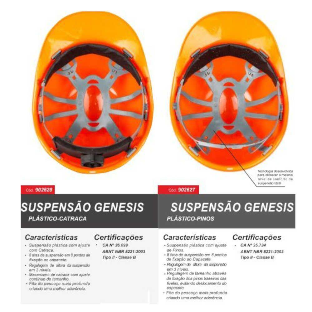 Capacete Genesis Aba Frontal com Catraca - Libus