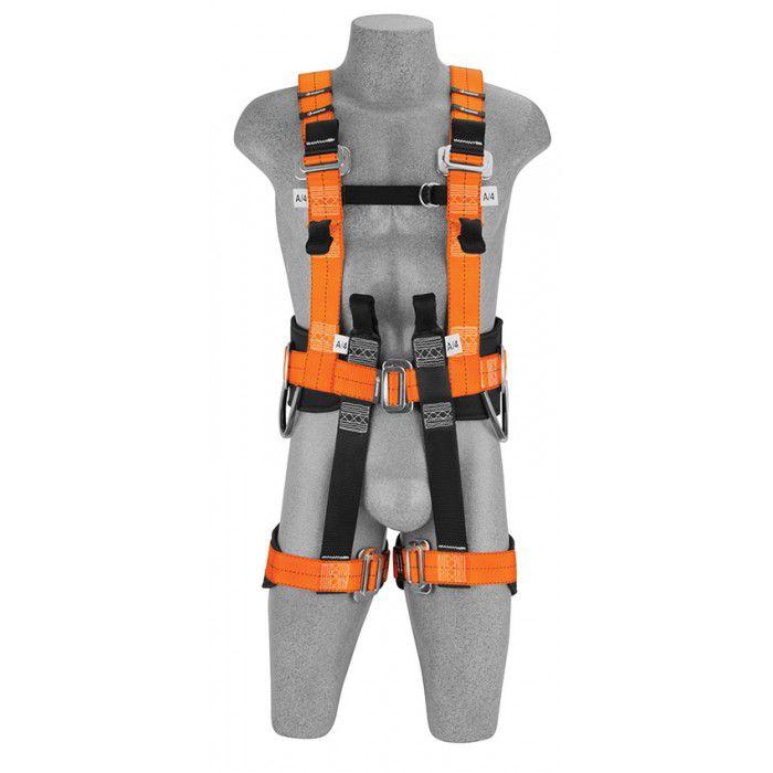 Cinto de Segurança Tipo Paraquedista 7 Argolas em H para Resgate com Suporte Lombar Premium - Facintos