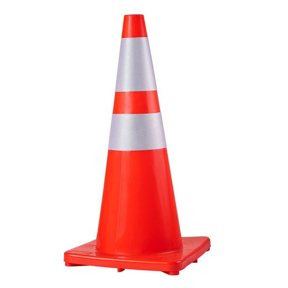 Cone de Sinalização Flexível com Refletivo 75 cm - Plastcor