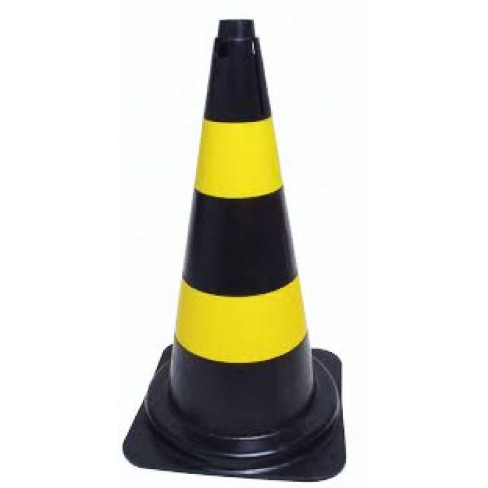 Cone de Sinalização Zebrado 75 cm