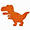 Dinossauro laranja