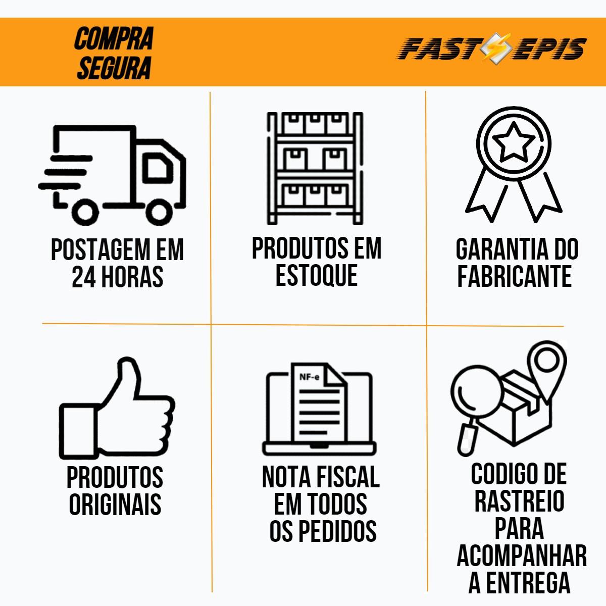 Coturno de Segurança Adventure Couro Látego Café PS 410 - Ecosafety