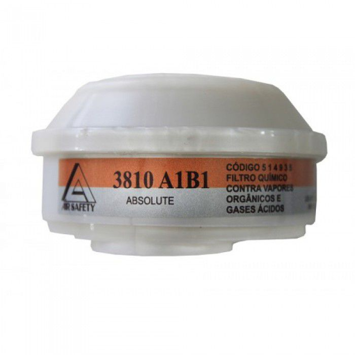 Filtro Químico para Absolute A1B1 (Vapores Orgânicos e Gases Ácidos) - Air Safety