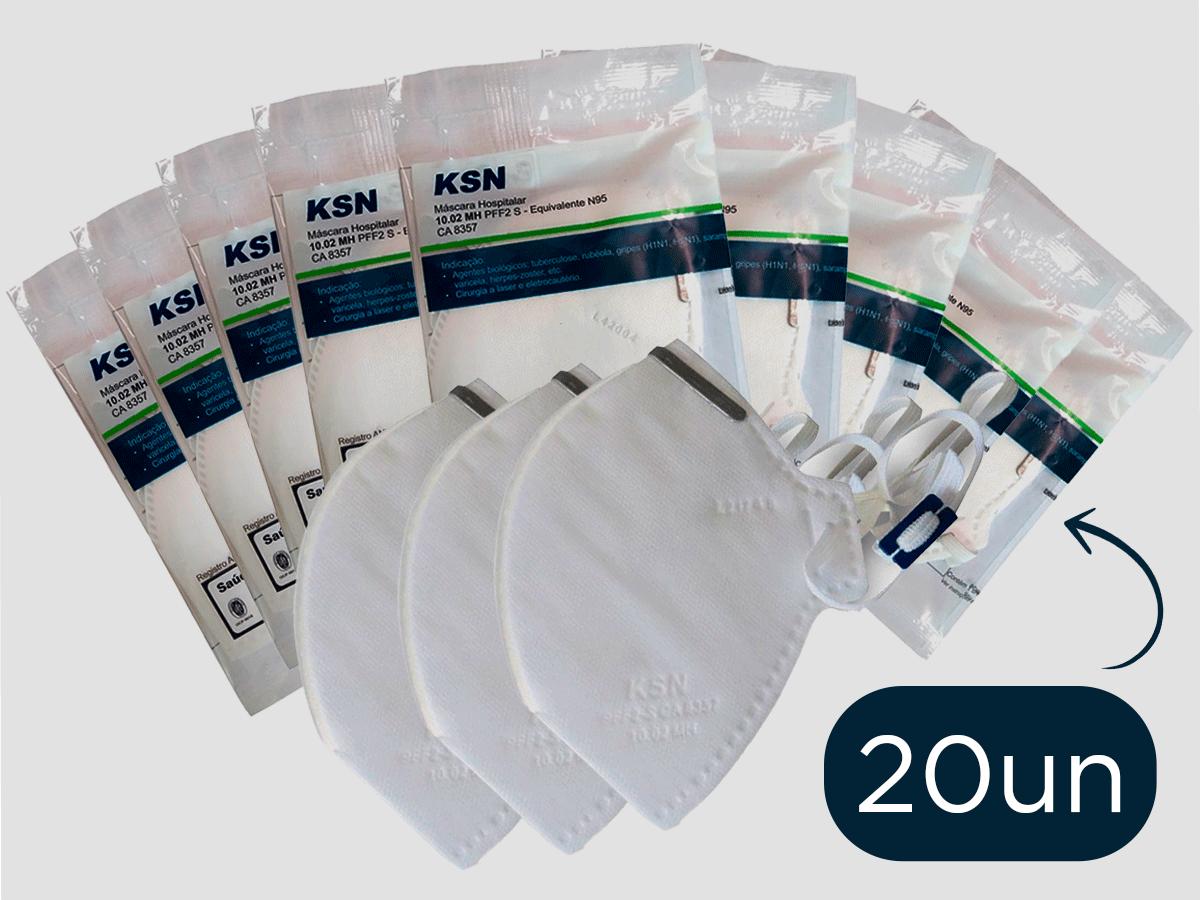 Kit 20 Mascara Semi Facial Hospitalar PFF2 N95