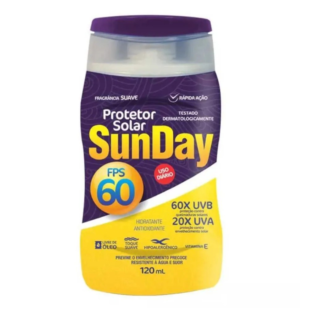 Kit 5 Protetor Solar Sunday Fps 60 120ml