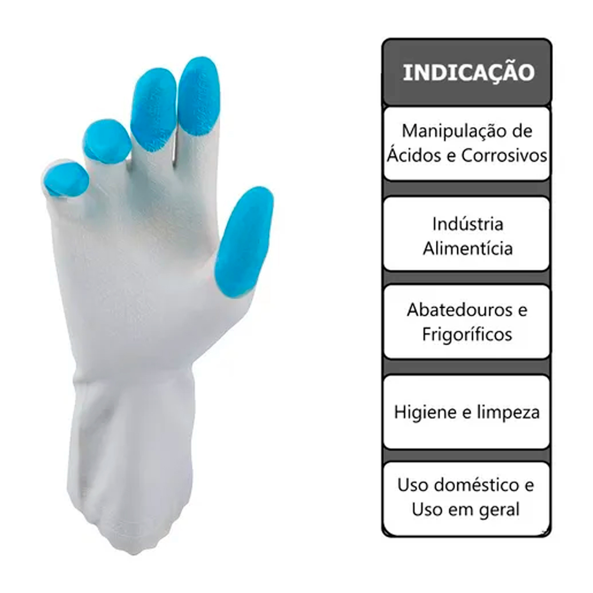 Luva Antialérgica HouseHold Silk Touch Super Safety
