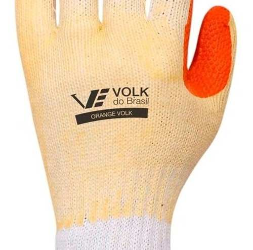 Luva com Borracha Vulcanizada Orange - Volk
