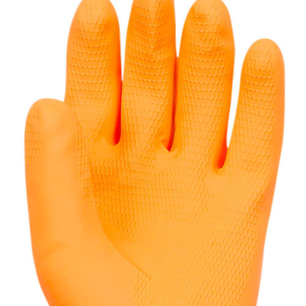 Luva de Látex Reforçado Laranja Super Orange - Super Safety
