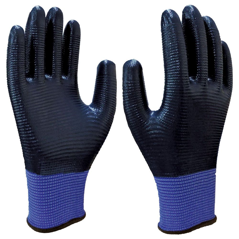 Luva de Malha com Banho Nitrílico (Nitrilon Azul) SS 1002L - Super Safety