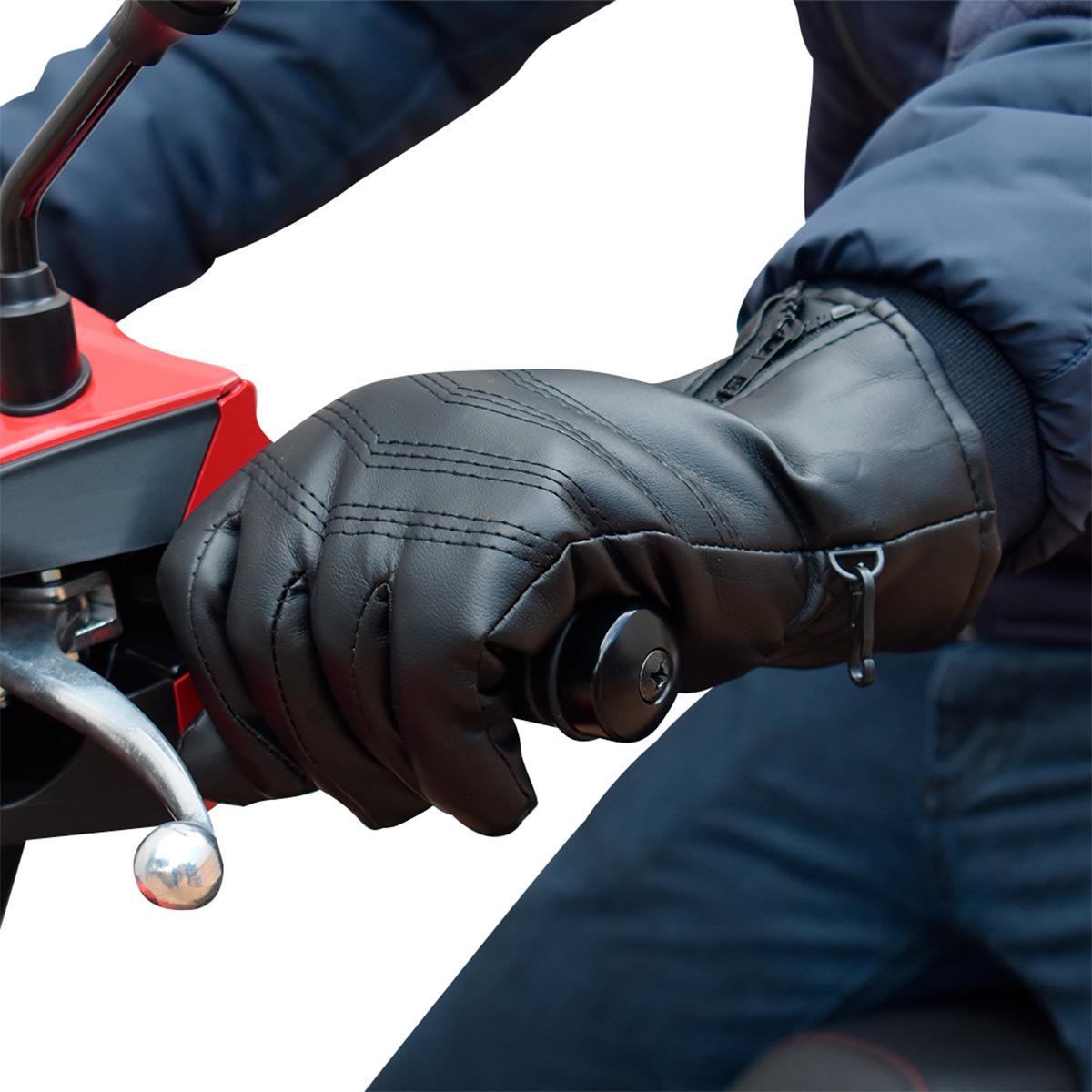 Luva de Motociclista Sintética Impermeável - Classe