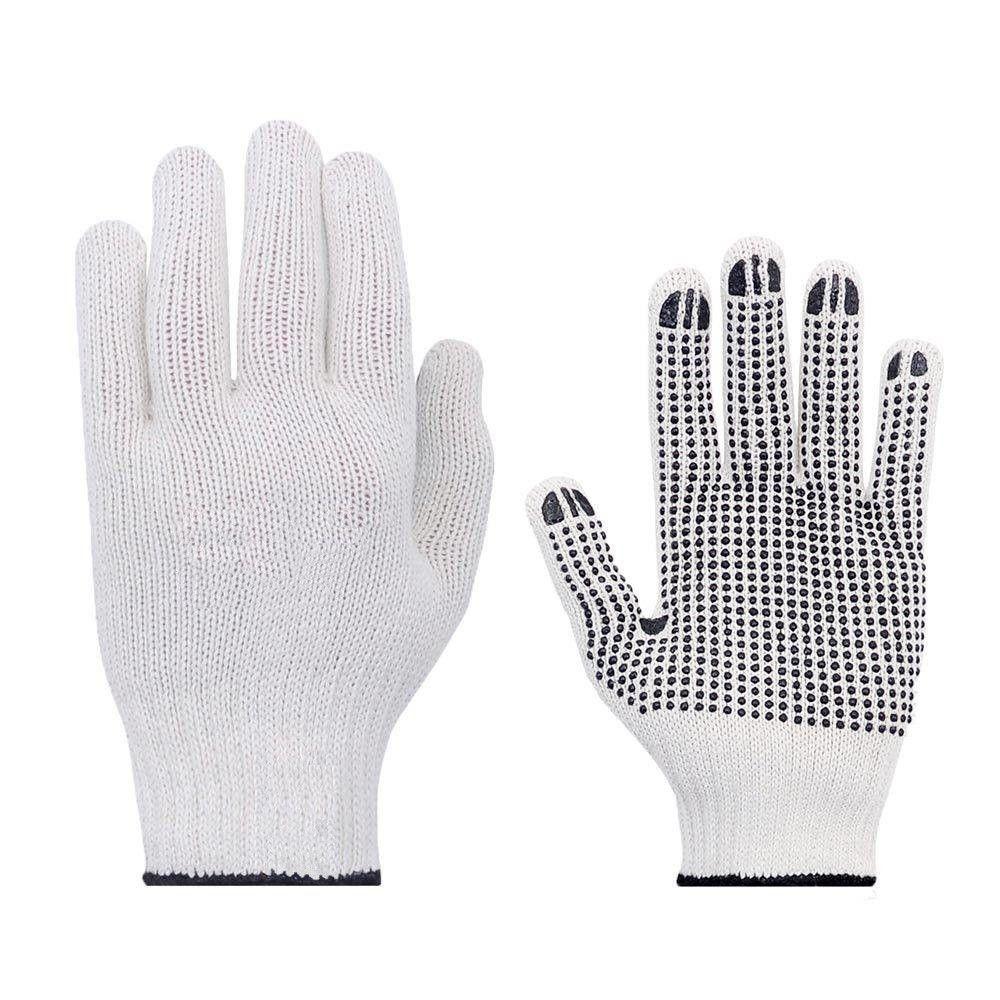 Luva Tricotada em Helanca Branca 6 fios com Pigmento - Super Safety
