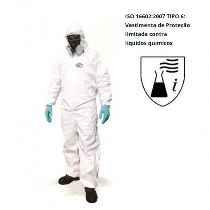Macacão de Segurança para Pintura e Riscos Químicos - Simprotec 50