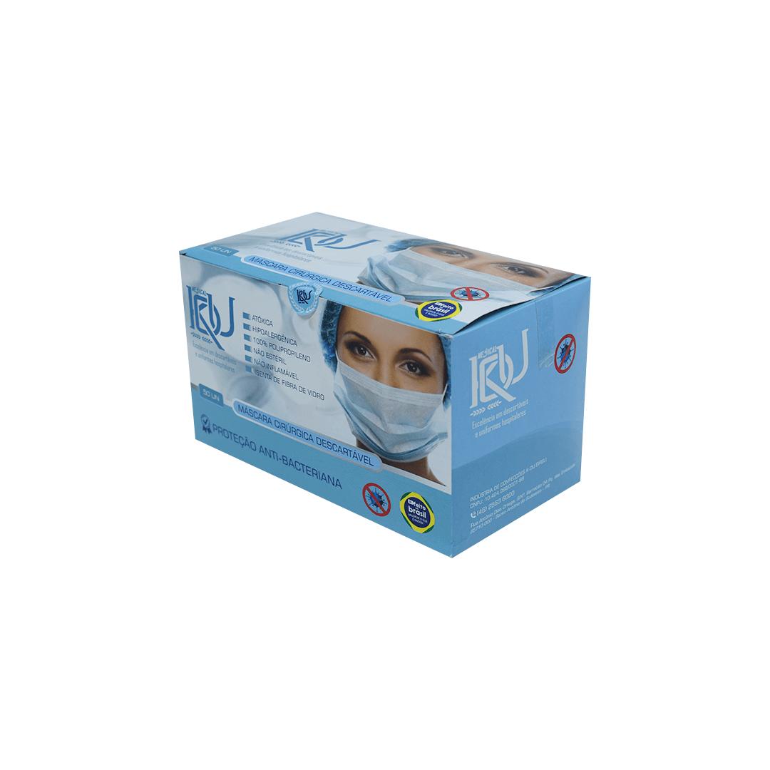Máscara Cirúrgica Descartável Tripla PCT. com 50 unidades