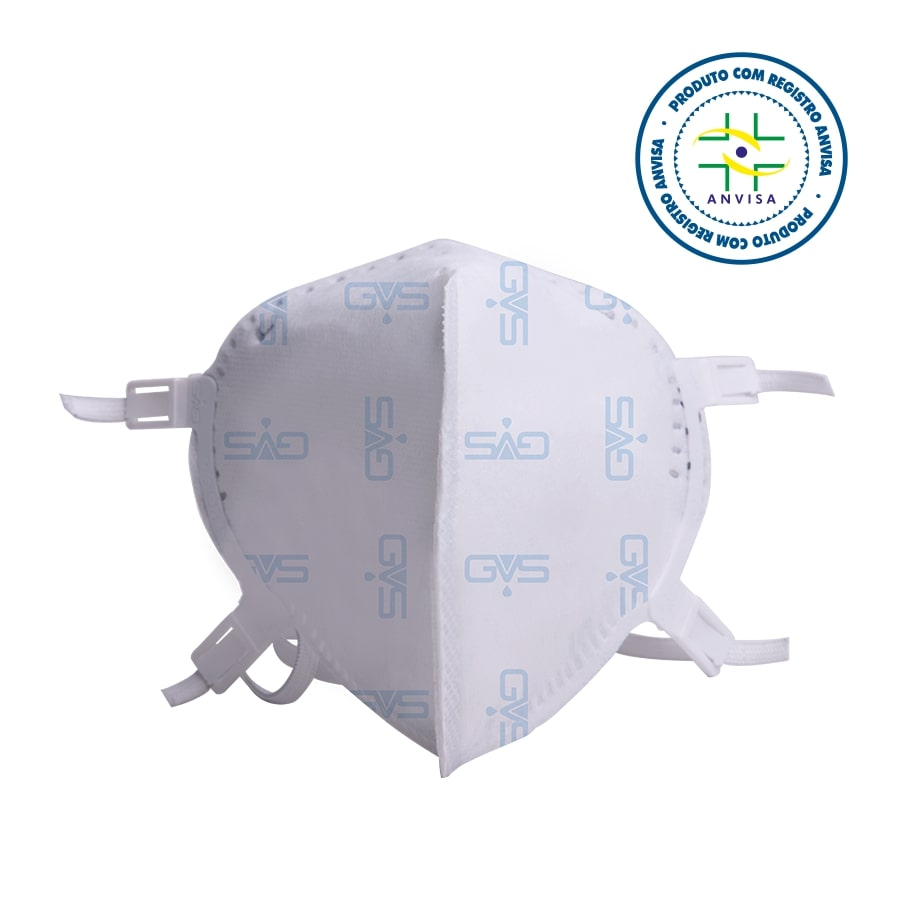 Máscara de Proteção Respiratória Hospitalar PFF2 N95  GVS