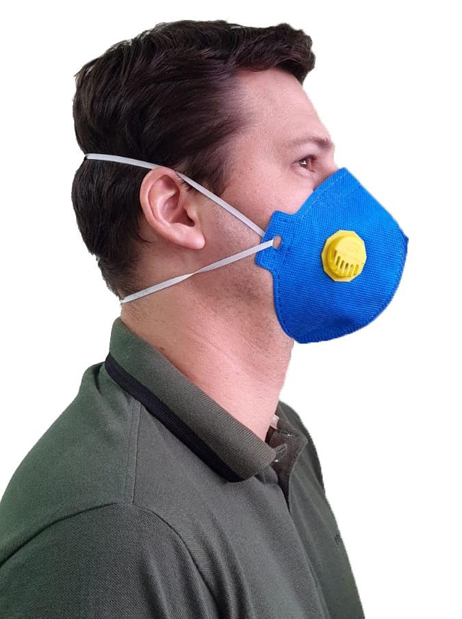 Mascara Semi Descartavel PFF2 N95 C/ Válvula Super Safety