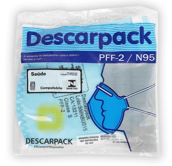Máscara Semi-Descartável PFF2 N95 - Descarpack