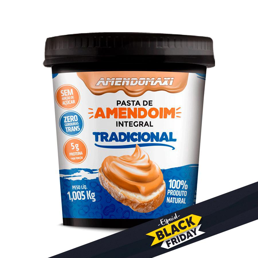 Pasta de Amendoim Integral Tradicional 1Kg - Amendomaxi