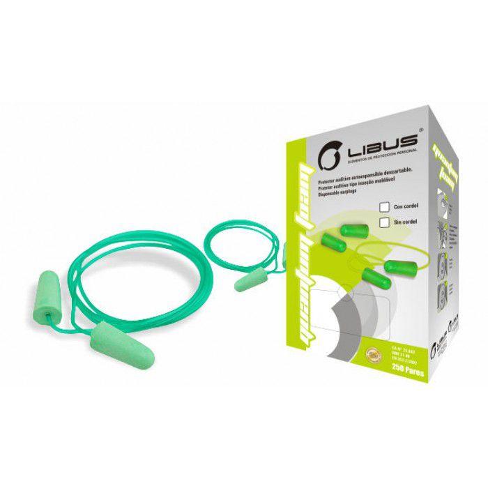 Protetor Auditivo Tipo Plug Espuma 17dB com Cordão - Libus