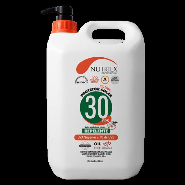 Protetor Solar FPS 30 com Repelente Nutriex 4 Litros
