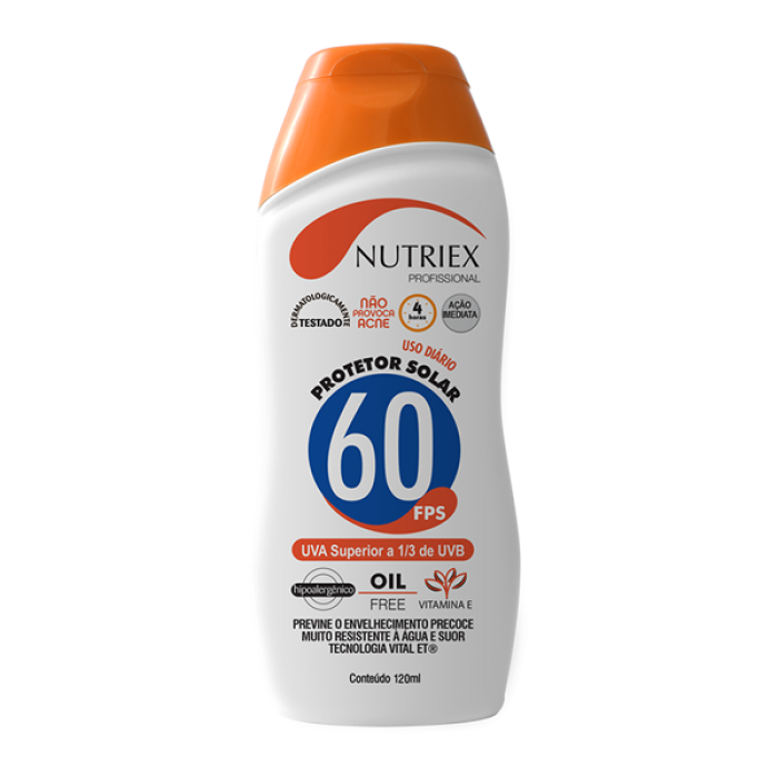 Protetor Solar FPS 60 Nutriex 120ml
