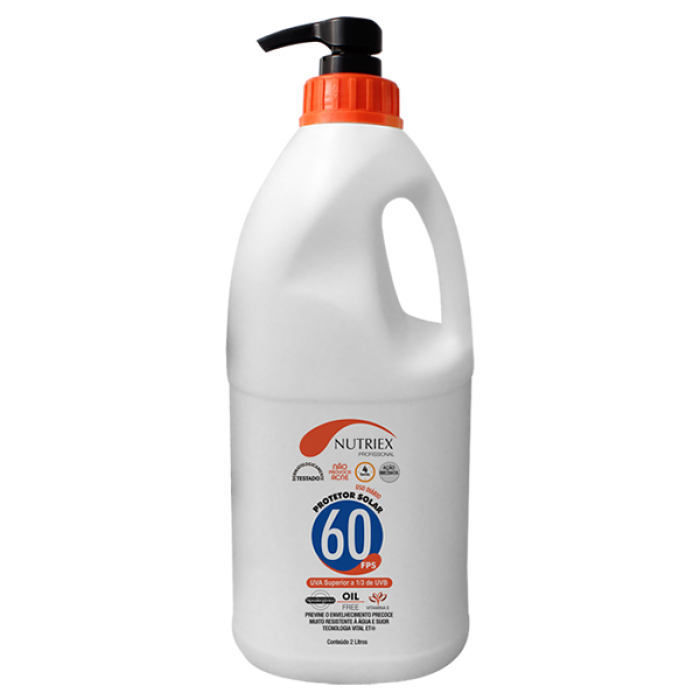 Protetor Solar FPS 60 2 Litros - Nutriex