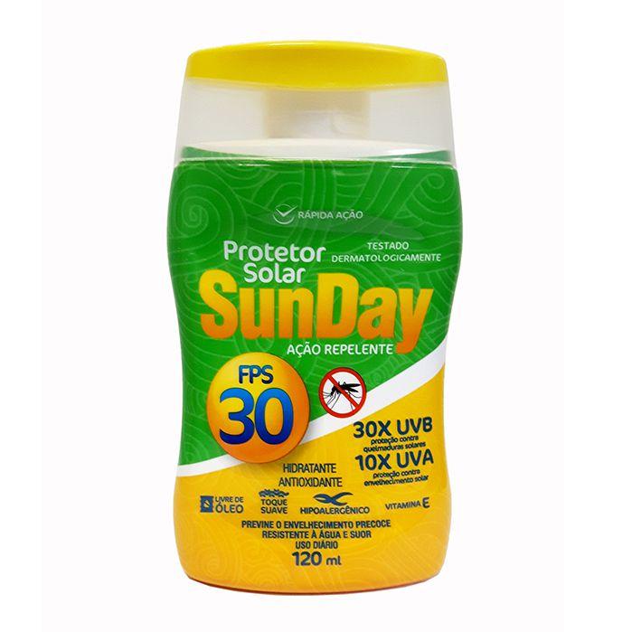 Protetor Solar Sunday FPS 30 com Repelente 120 ml