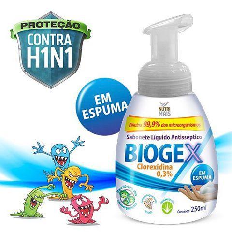 Sabonete Líquido Antisséptico Biogex Nutriex - 250 ml