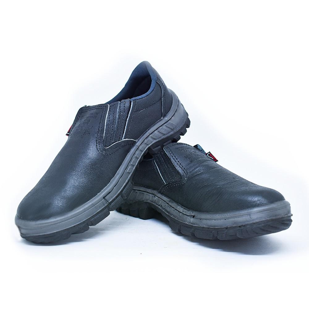 Sapato de Segurança de Elástico com Biqueira de PVC e Solado Bidensidade - Crival CP088LS