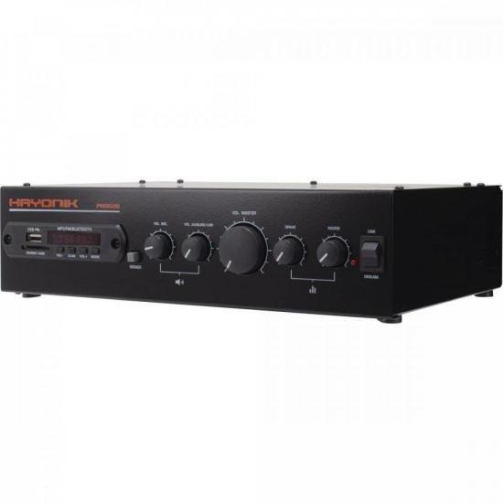 Amplificador PRO620 100W RMS C/ Gongo HAYONIK