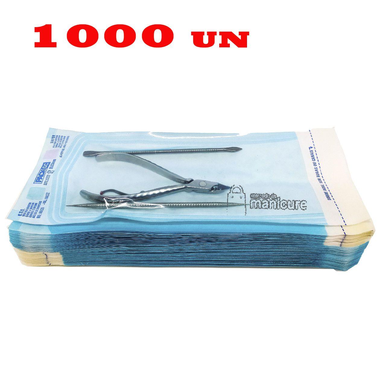 1000 Envelopes para esterilização de alicate 9cm x 23cm VedaMax