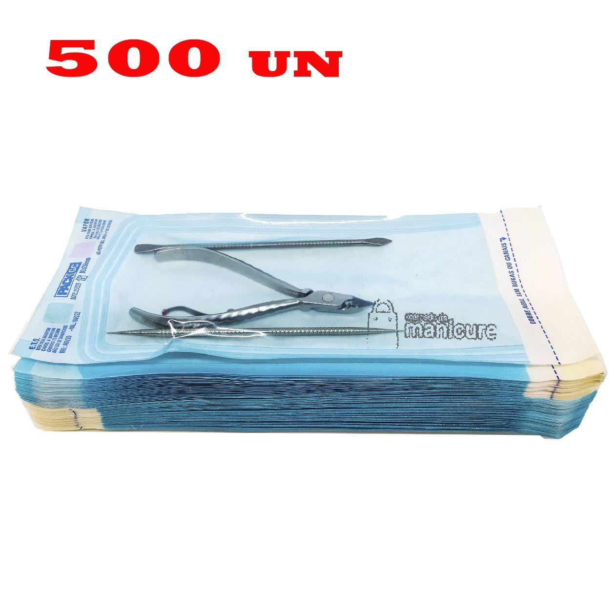 500 Envelopes para esterilização 9cm x 23cm Veda Max