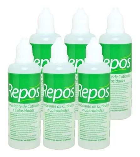 6 Repos amaciante de cutícula e calosidade liquido 120 ml