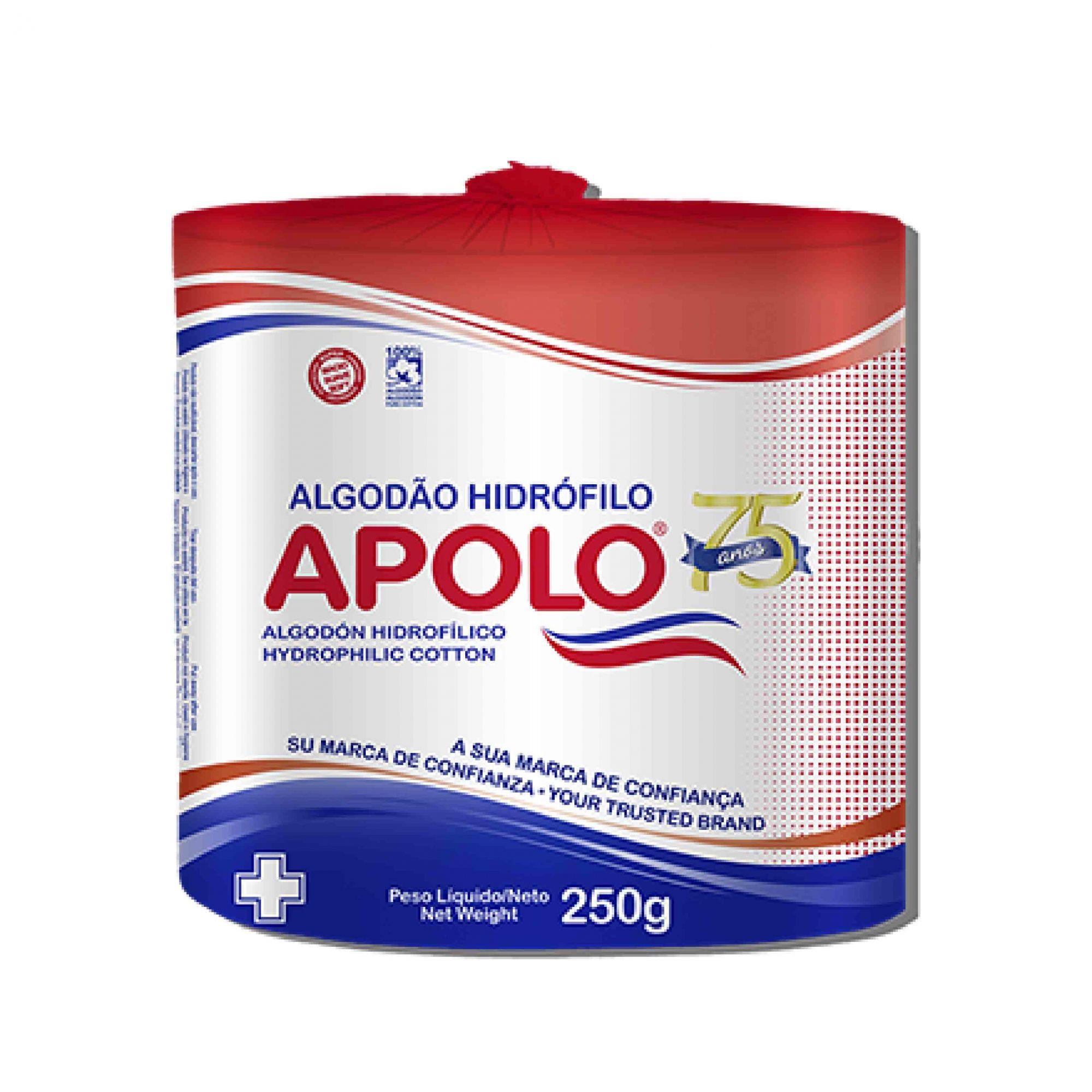 Algodão em rolo hidrófilo Apolo branco 250g
