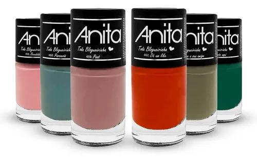 Coleção de Esmalte Anita toda bloguerinha  com 6 unidades